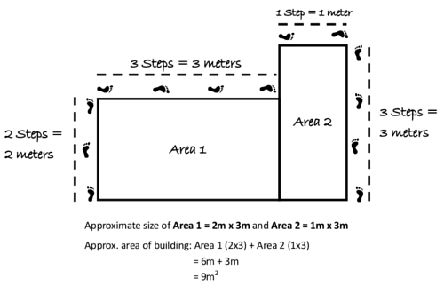 How to measure the area of a complex building