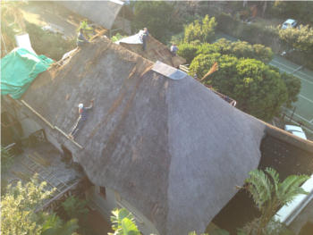 The thatch roof before converting to onduvilla tiles