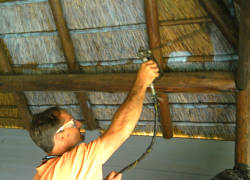 Fire Retardant Spray for Thatch Roofs