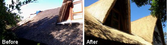 Thatch roof renovation by Cintsa Thatching