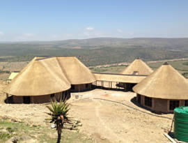 Self Catering units at Mvezo thatching project