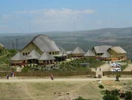 Mvezo thatching project - large thatched roofs